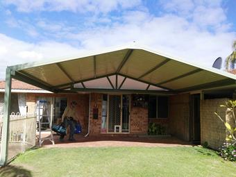 open end gable patio