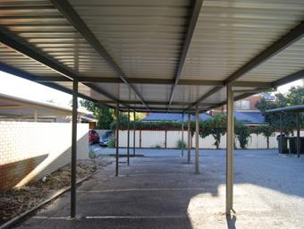 flat carport for strata by great aussie patios