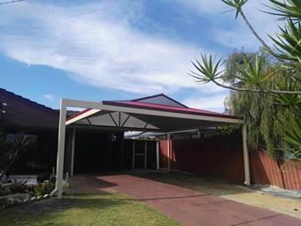 a double hipend dutch gable carport