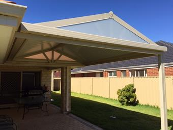 clean and simple gable patio
