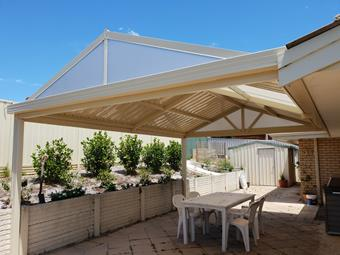 a gable patio by great aussie patios