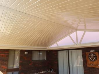 a cdek gable patio in cream