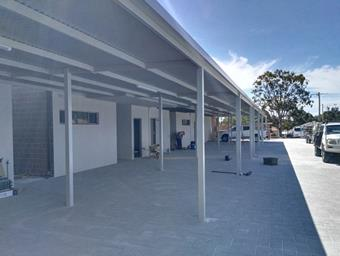 a colorbond carport by great aussie patios