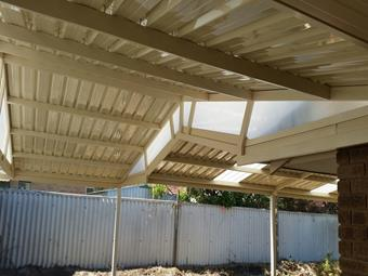 Custom truss in truss for gable patios