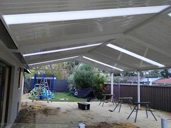gable patio with c-dek roofing