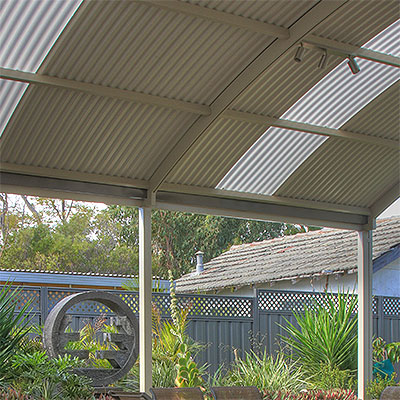 Patio roofing perth patio builders great aussie patios for Roofing material options