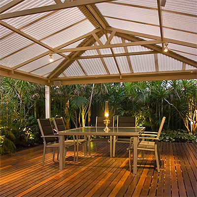 Patio roofing perth patio builders great aussie patios for Screen porch roof options
