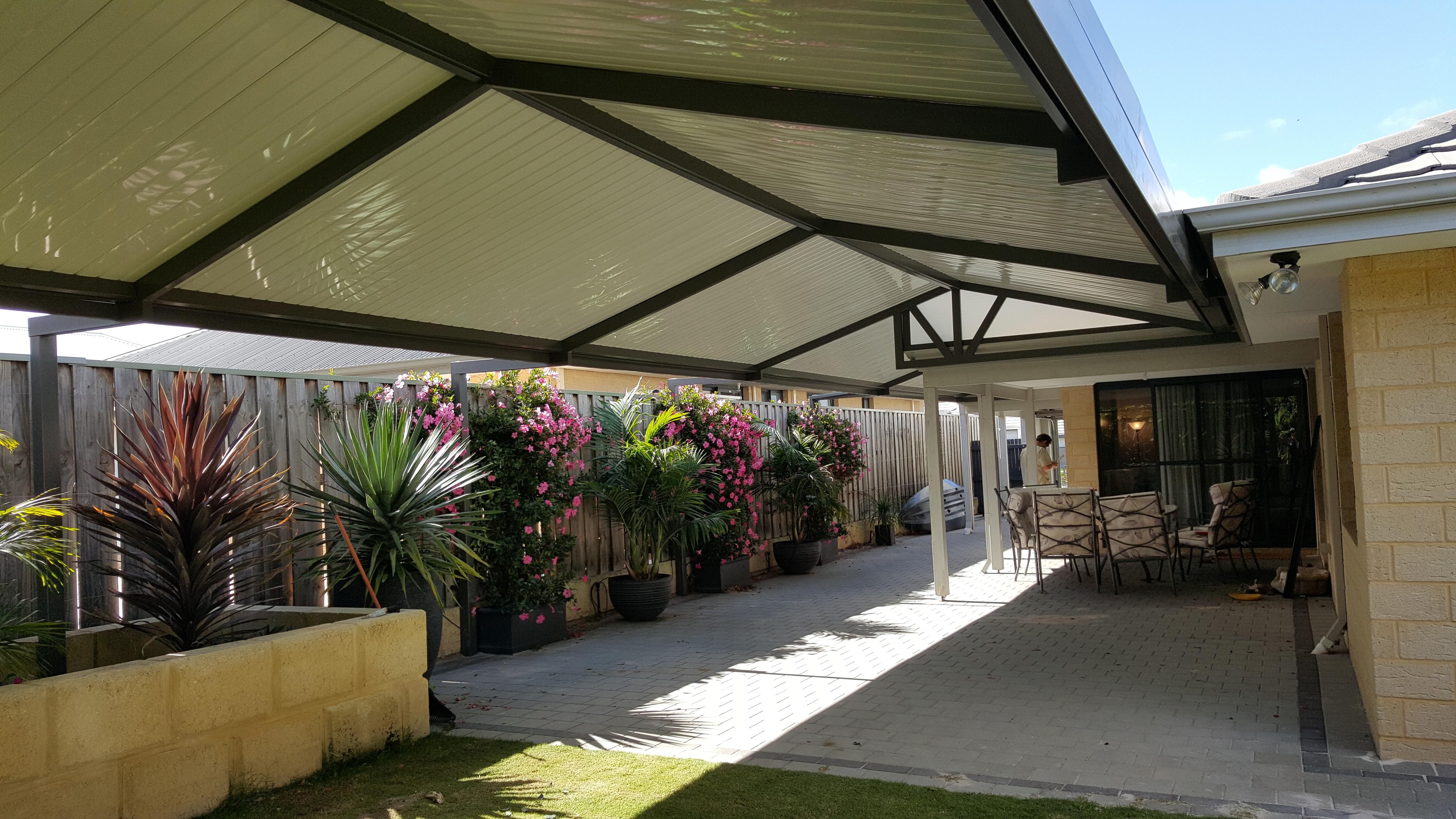 Gable patio design in ellenbrook perth great aussie patios for Gable patio designs