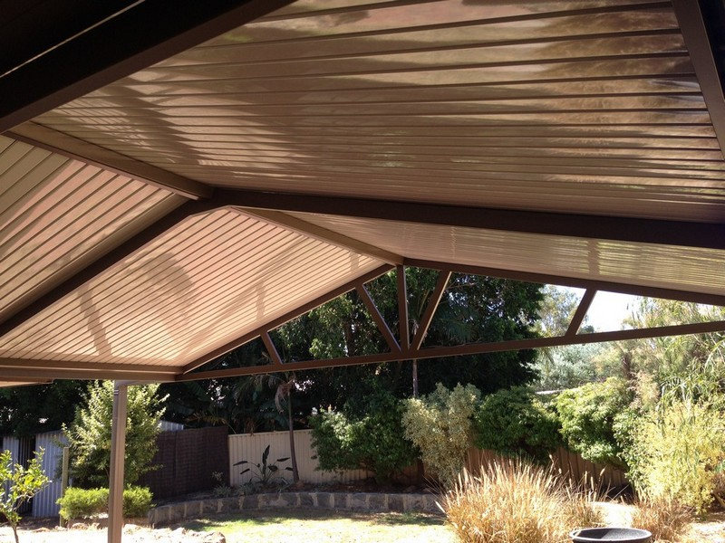 Gable Patio with C-Dek Roofing Option by Great Aussie Patios.