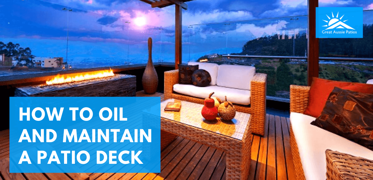 How to Oil and Maintain a Patio Deck