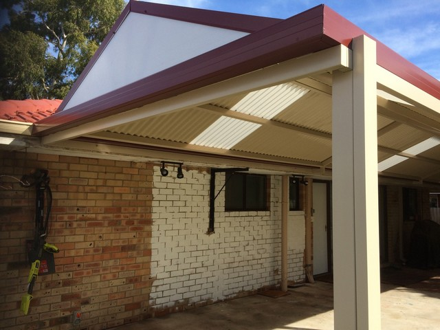 classic colorbond manor red and cream gable great aussie patios