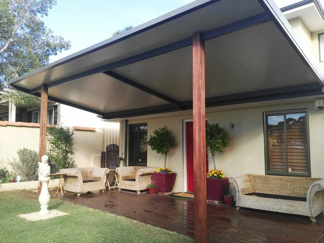 solarspan in surfmist with woodland grey frame great aussie patios