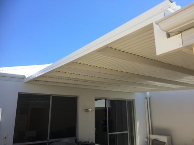 flat pergola between house and garage by great aussie patios