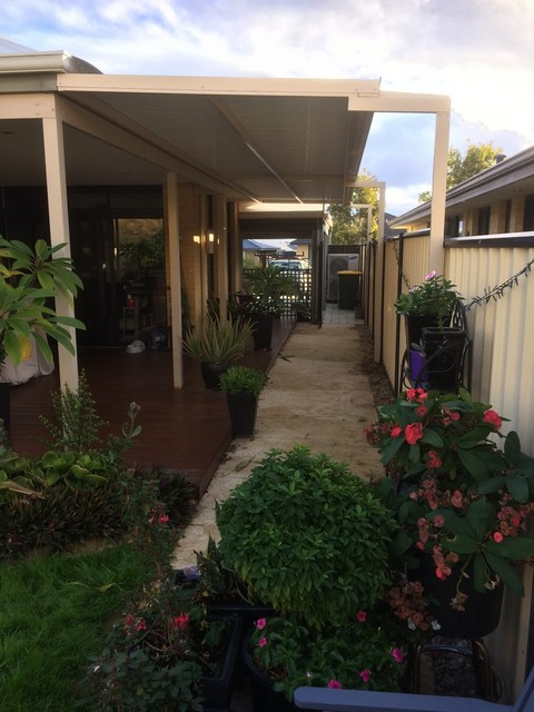 flat pergola at side of home great aussie patios
