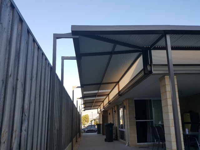 raised flat pergola side and rear by great aussie patios