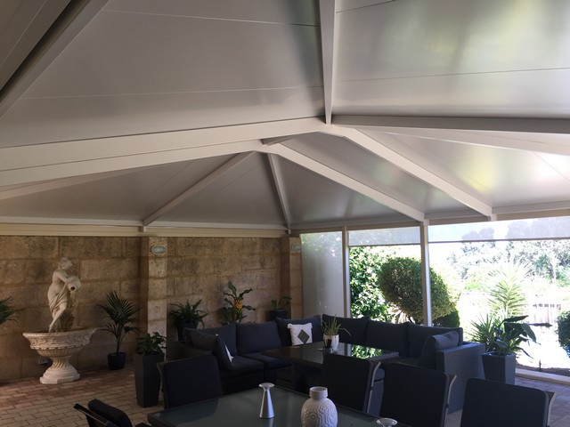 indoors outdoors hipend gable patio in solarspan by great aussie patios